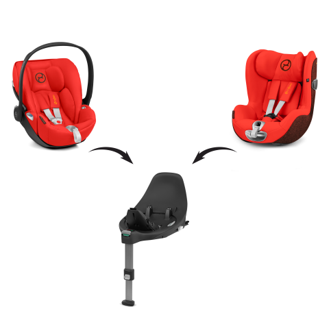 mc4wmdcz functionality 76 sirona z 555 modular system one base two car seats en en 5c0fb9684de23 - Cybex Baza Z-Fix